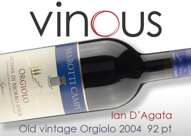 Lacrima di Morro d'Alba Orgiolo 2004 rated by Ian D'Agata on Vinous cellar favourites