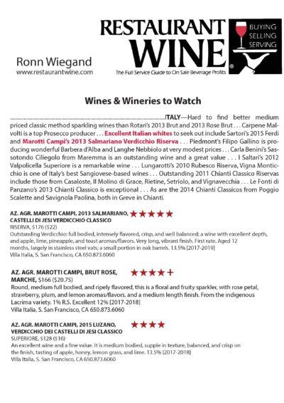 2017 Restaurant Wine Ronn Wiegand