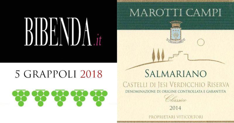 Salmariano 2014 Verdicchio Riserva Marotti Campi 5 grappoli Bibenda 2018