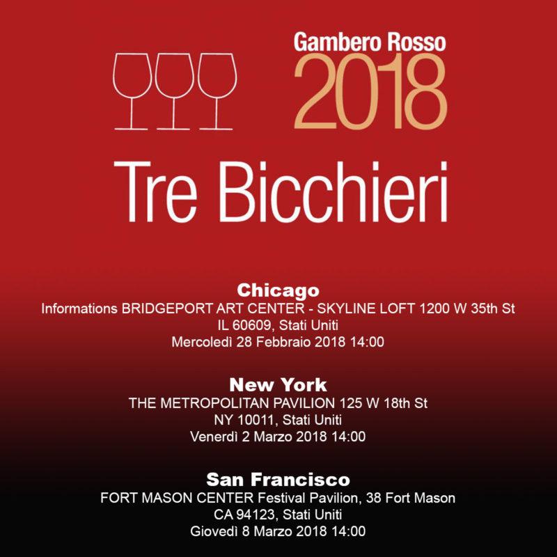 MAROTTI CAMPI TRE BICCHIERI GAMBERO ROSSO USA TOUR 2018