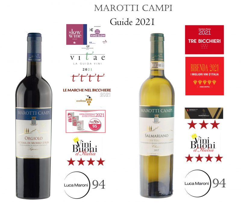top awards 2021 Marotti Campi wine